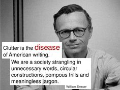 Clutter is the Disease of AmericanWriting