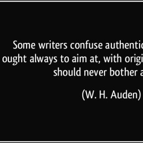 Originality or Authenticity?