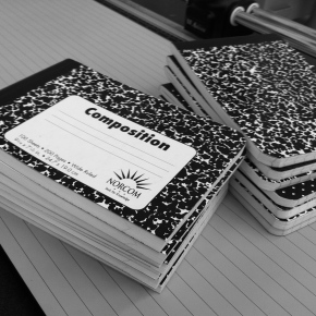 Writing is a Composition Book, Not a Leather BoundJournal