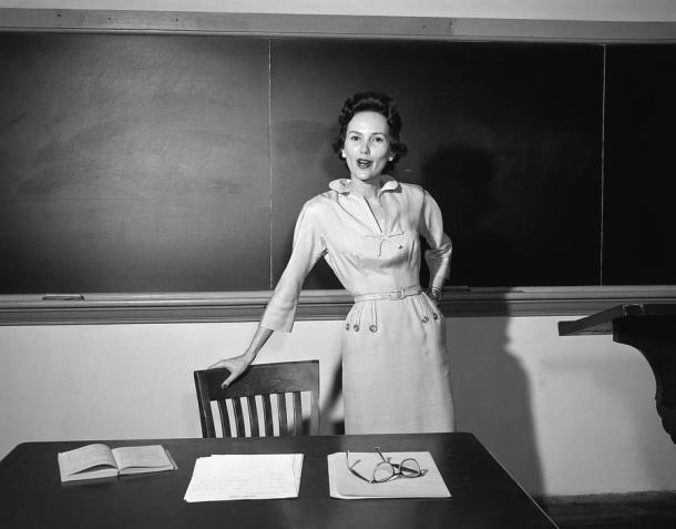 old-fashioned school teacher